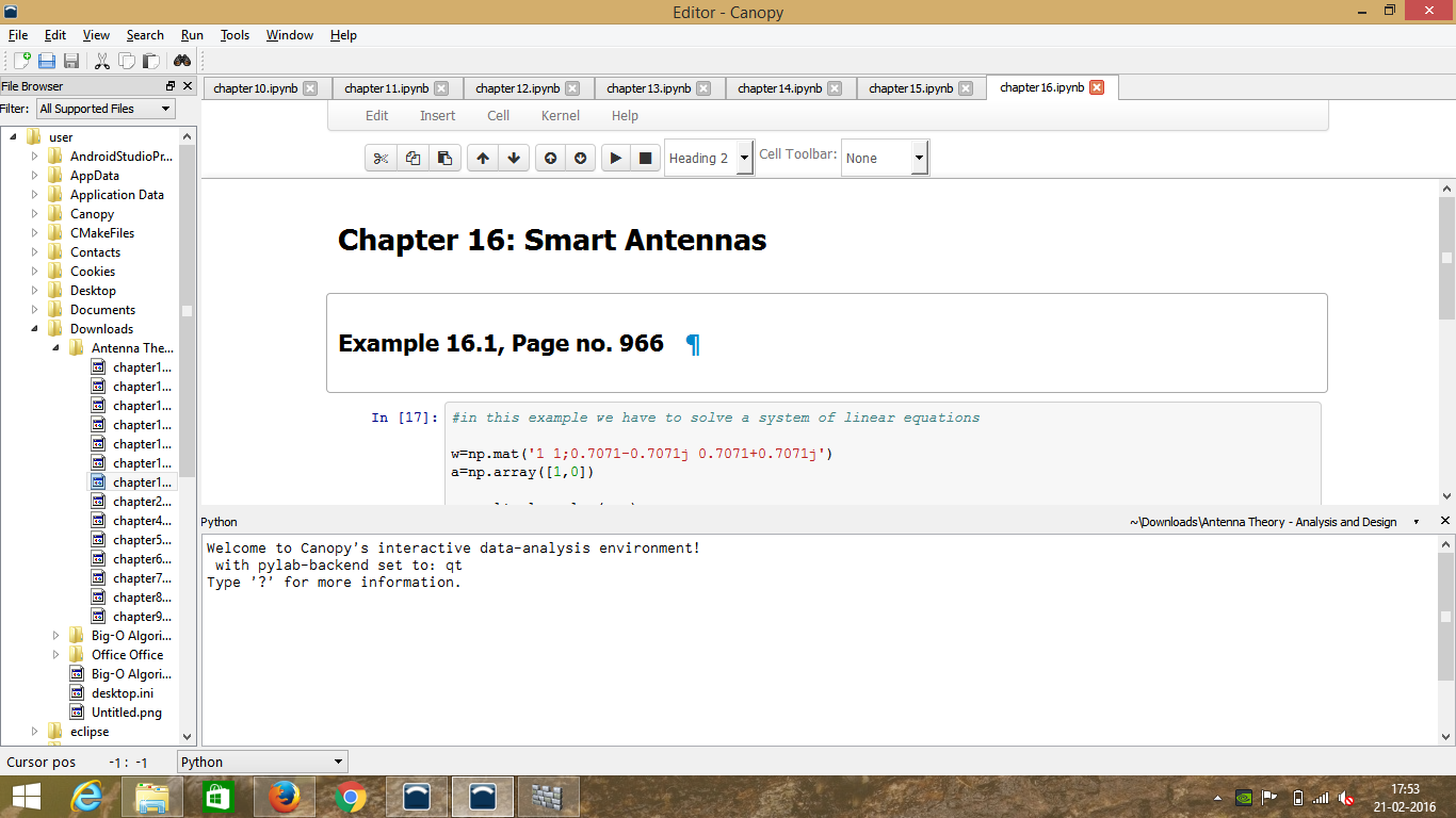 Python Textbook Companion Project Fossee Iit Bombay Smart Antennas Click To View