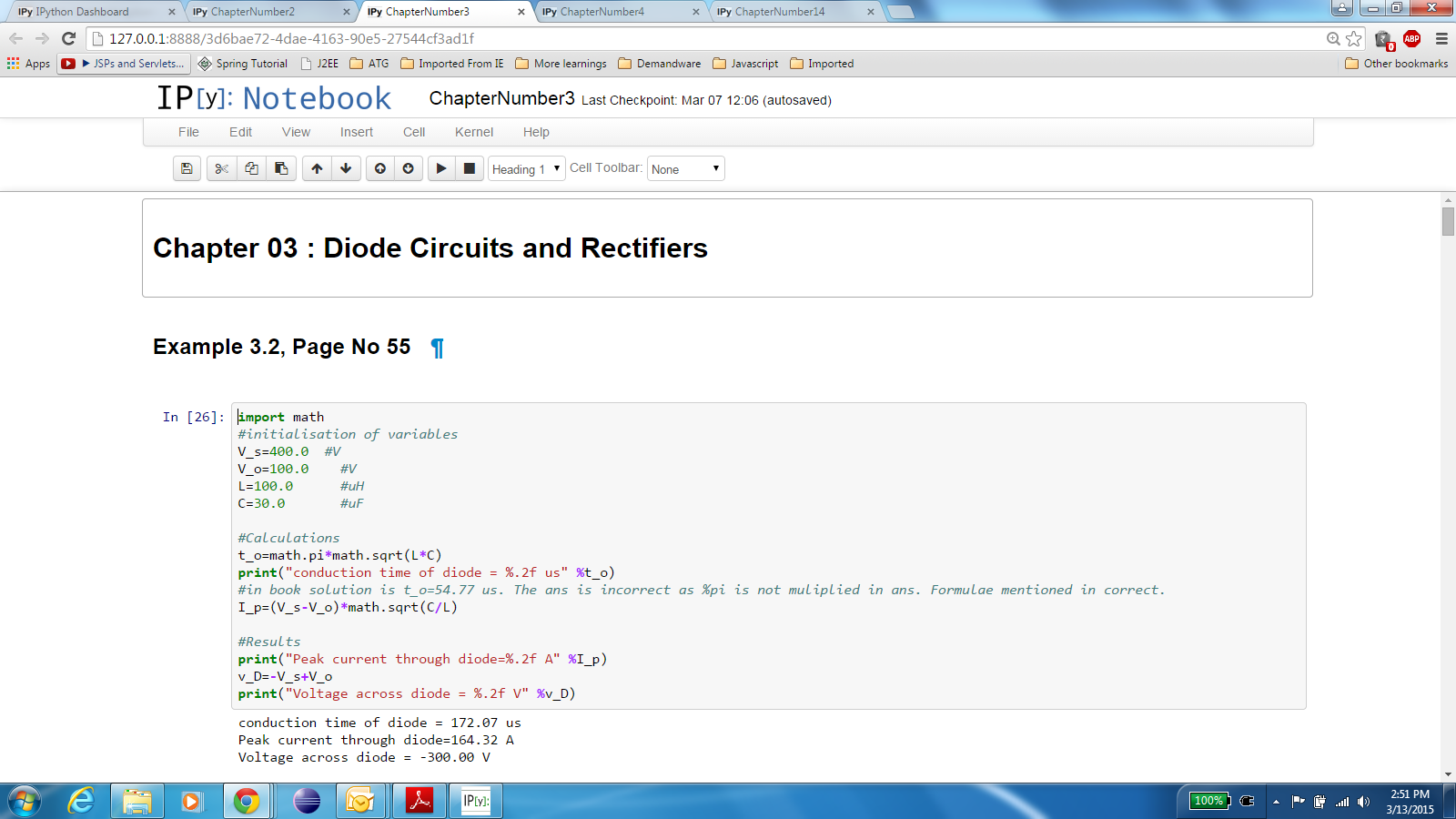 Python Textbook Companion Project Fossee Iit Bombay Diode Circuits Click To View Chapter 03 And Rectifiers